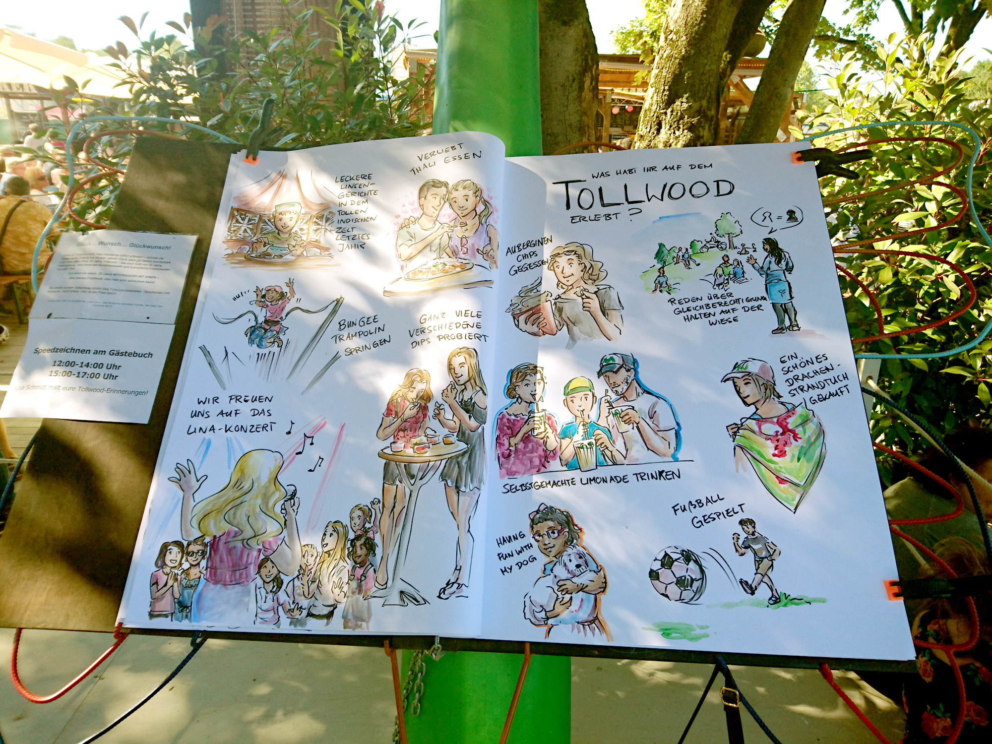 Tollwood München - Erlebnisse der Besucher im Gästebuch
